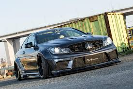 liberty walk mercedes benz c63 amg coupe is the angry warrior