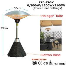 Tabletop Electric Patio Heater by Table Top Rattan Electric Patio Heater
