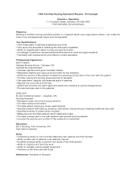 Sample Resume For Cna Job by Cna Resume Samples With No Experience Resume Format 2017