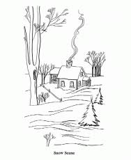 tree coloring pages bare tree without leave coloring page kids