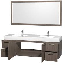 72 In Bathroom Vanity by Amare 72 Inch Wall Mounted Double Bathroom Vanity Set With