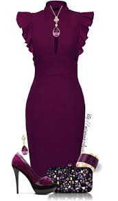 Plum High Heels Pretty Plum High Heels A Blinged Out Bag And A Slim Fit