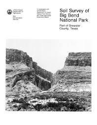 Big Bend National Park Map Soil Survey Of Big Bend National Park Part Of Brewster County