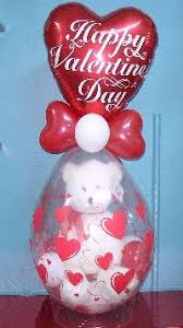 gift inside balloon stuffed balloon teddy in balloon party