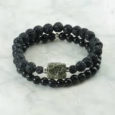 mens bracelet beads images Kratos bracelets for men lava mala beads mala bracelets stacks jpg