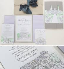 soft watercolor venue illustration wedding stationerymomental designs