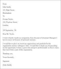 resignation letter format exciting templates example professional