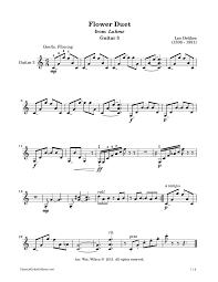Flower Duet - flower duet u2013 léo delibes classical guitar editions