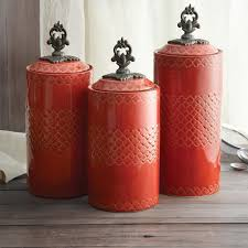orange kitchen canisters kitchen canister sets country the multipurpose kitchen canister