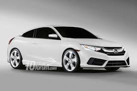 2016 honda civic sedan coupe u0026 hatchback renders leaked 10th