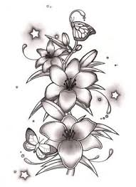 wonderful lily tattoo design on paper tattooshunter com