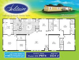 4 Bedroom 2 Bath Mobile Homes Floorplans For Double Wide Manufactured Homes Solitaire Homes
