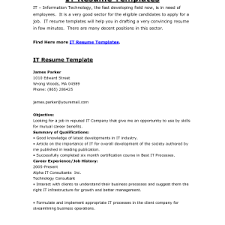Sample It Professional Resume by It Resume Example Best Customer Service Applying Sample It X Cover