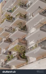 many identical balconies new modern building stock photo 642467815