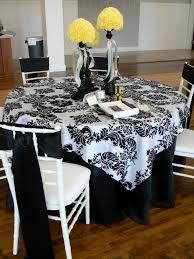 stripe satin rectangular tablecloth 90x156 black white cv also