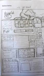 planning your web design with sketches