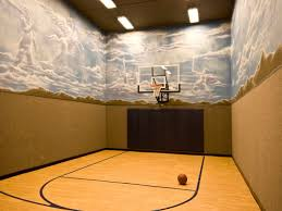 home basketball court design under garage basketball court