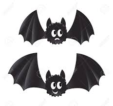 two cartoon style bats royalty free cliparts vectors and stock