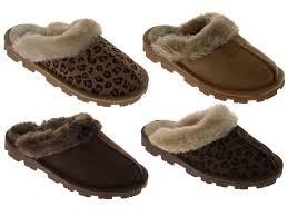 womens sheepskin boots uk womens slippers mules slip on warm faux sheepskin suede fur