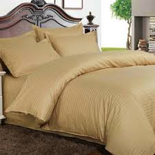 buy bed sheets with stripes 200 thread count camel online in