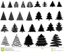 christmas tree silhouette vector christmas lights decoration