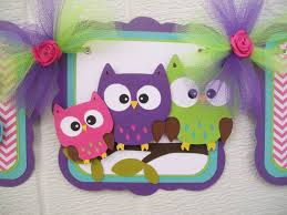 Owl Decorations by Owl Family Banner Owl Family Baby Shower Owl Baby Shower Owl