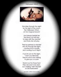 Halloween Short Poem Halloween Poems About Witches U2013 Festival Collections