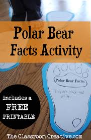 free polar bear paw writing prompt polar bear facts