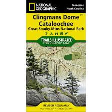 Smoky Mountain National Park Map 317 Clingmans Dome Cataloochee Great Smoky Mountains National