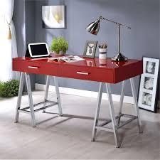 Chrome Office Desk Acme Coleen Home Office Desk In And Chrome 92228