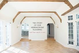 the story of our herringbone flooring emily henderson