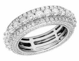 white gold eternity ring 14k white gold unisex diamond eternity wedding anniversary