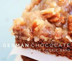 german chocolate cake cookie bars a dash of sanity