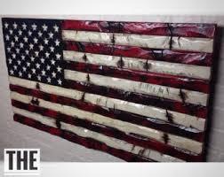 rustic american flag etsy