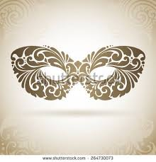 vintage ornamental mask decorative icon on stock vector 178612463