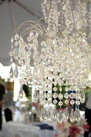 Plug In Chandeliers Waterfall Chandelier With Light Kit Faceted Gemstones 11 5 Inches