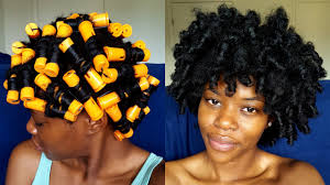 perm rods on medium natural hair my most defined perm rod set tutorial on 4b c natural hair