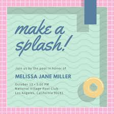 party invitations customize 93 pool party invitation templates online canva