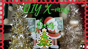 easy diy tinsel christmas trees dollar tree 99 cent store