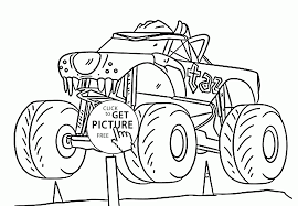 monster truck cool taz coloring page for kids transportation