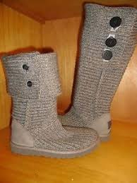 womens knit boots size 11 ugg womens cardy knit boot size 11 grey ebay