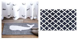 sheepskin bath mat whale bath rug myohya us