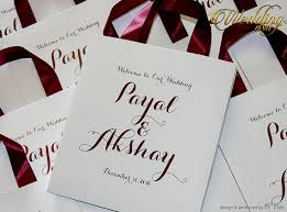 personalized wedding gift bags 100 wedding welcome bags with satin ribbon and names white and