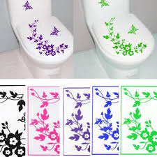 Wall Transfers For Bathroom Butterfly Flower Bathroom Wall Stickers Home Deocr Home Decoration