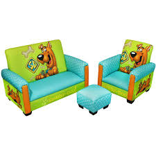 warner bros scooby doo deluxe toddler sofa chair and ottoman