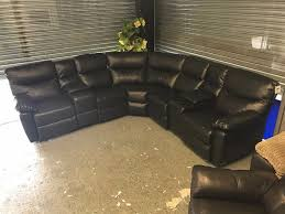 Leather Recliner Chair With Cup Holder Designer Bonded Leather Recliner Corner Sofa 5 6 Seater Black