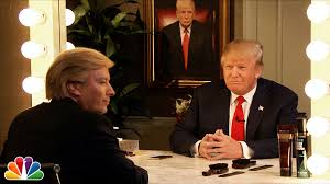 donald trump interviews himself in the mirror youtube
