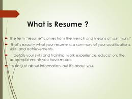 what is resume your way toward professional resume ppt