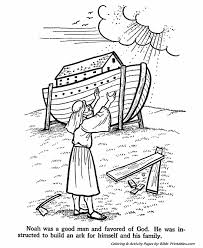 noah builds ark testament coloring pages bible printables