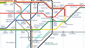 map underground going underground foster puts language cardiff